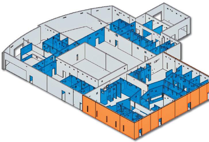 3d CMu Modeling using sketchup developed to model interior masonry walls