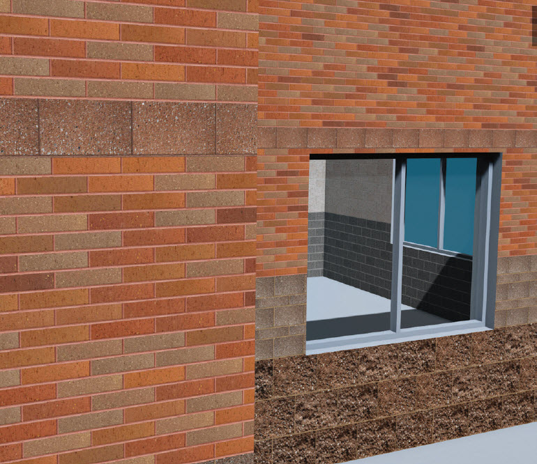 Tapping into proper data models for masonry does more than optimize production, delivery and installation. Rendering custom masonry patterns with content from local producers can be done using MasonryiQ, giving a look and feel that captures texture, preblended mortar colors and natural color range in all its glory.