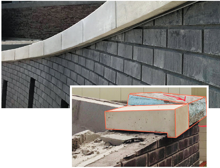 Polystyrene insulation was used to make a full-scale mockup, of custom cast stone sloped caps of each corner. Pictures of each were utilized to markup for creation of new shop tickets in 3D.