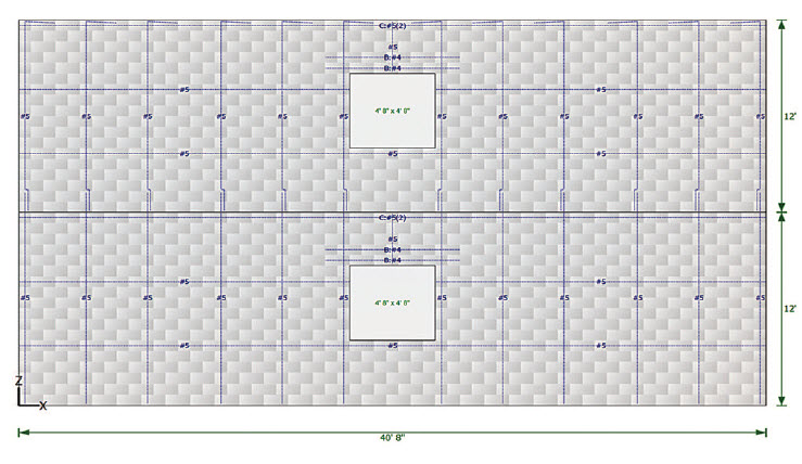 Figure 3. Detailed drawings with bond pattern and reinforcement layout