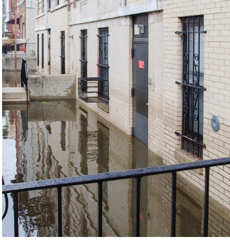 Figure 9 –Many New Jersey apartments had water several feet high in and around them after the storm surge from Hurricane Sandy, 2012.