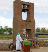 As St John Lutheran Church in Pilger NE was collapsed a second time due to tornado winds, its redesign to resilient loadbearing masonry was the topic of the class project.