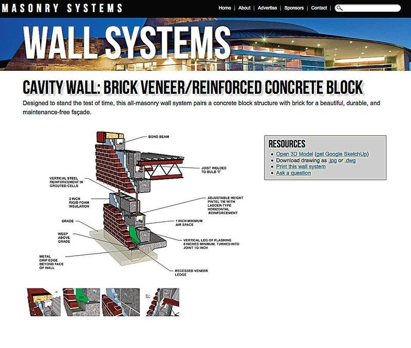 Wall system isometrics